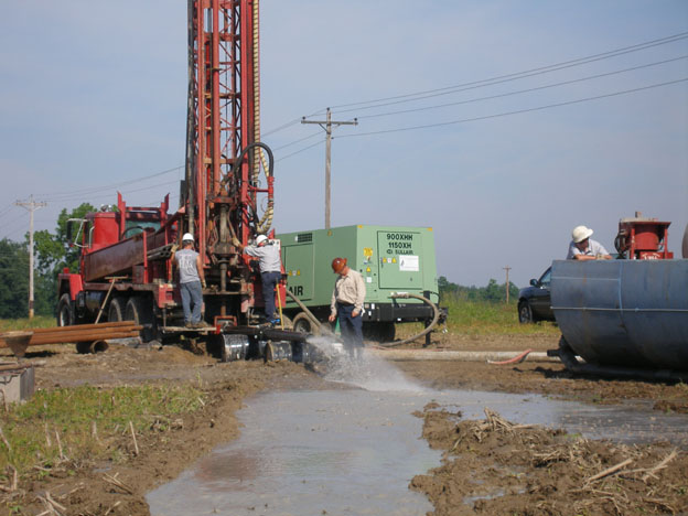 test drilling western Crawford Co OH