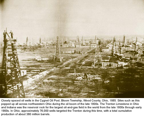 Oil field at Cygnet Ohio