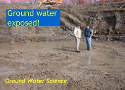Ground water exposed