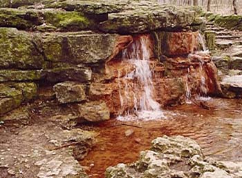 Yellow springs, near Yellow Springs, Ohio, formed by iron-precipitating microflora (water from limestone)